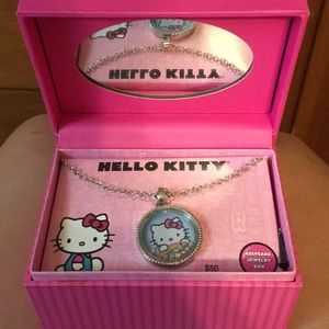 NWT Hello Kitty necklace with jewelry box